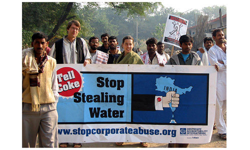 Stop Stealing Water banner India