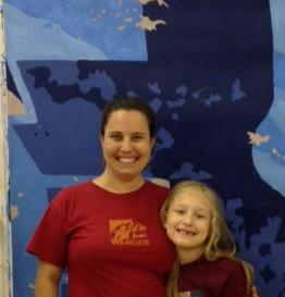 "Ennis and Elspeth at ""How We Fish"" mural"