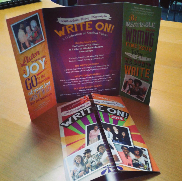 2016 Write On! Materials for Philadelphia Young Playwrights