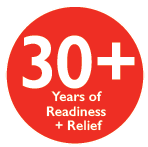 30+ years of readiness + relief