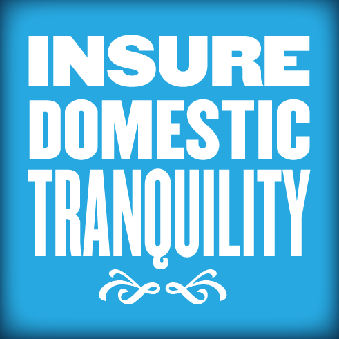 Insure Domestic Tranquility from the Preamble Project