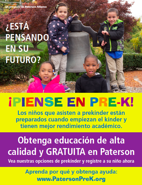 Flyer advertising pre-k translated into Spanish
